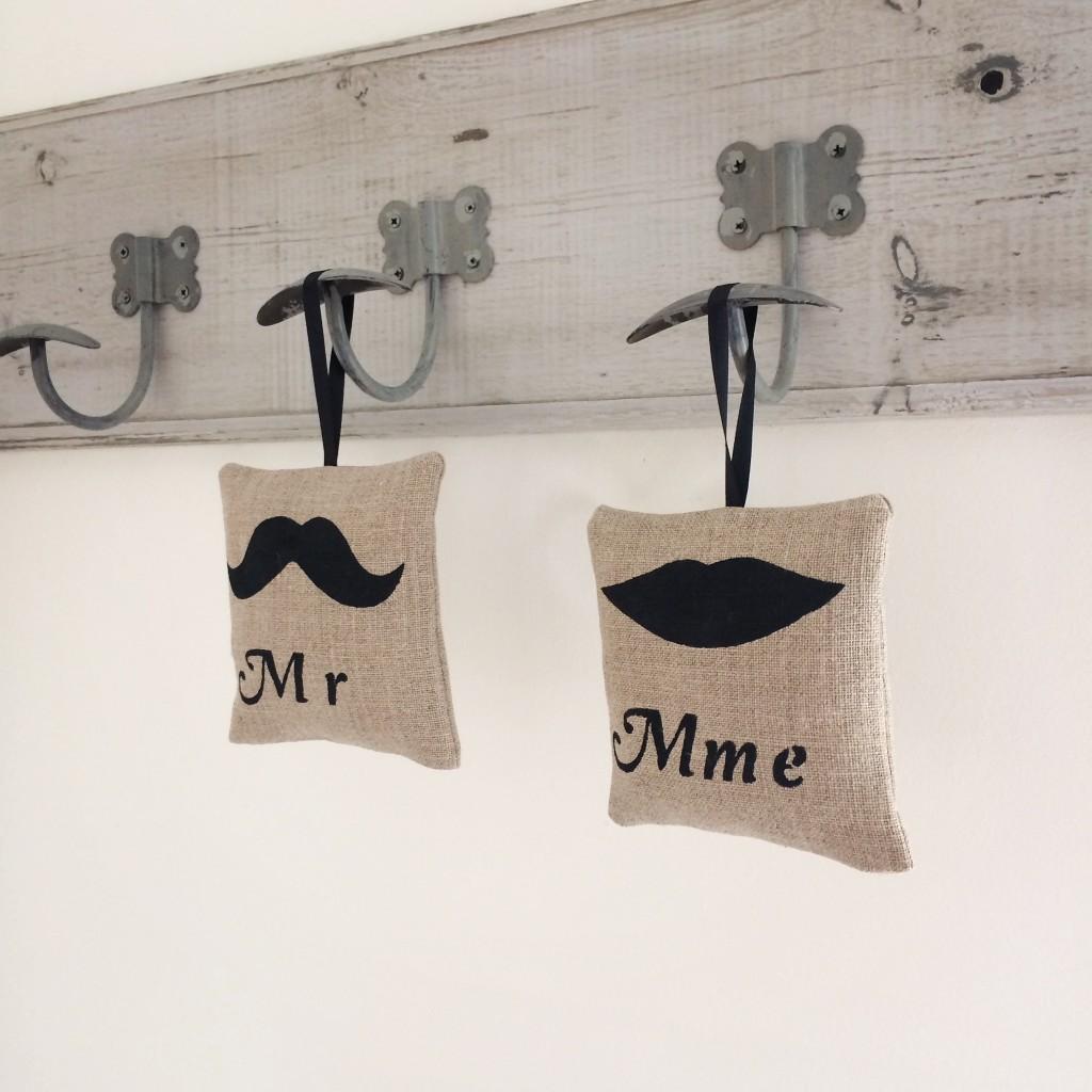 Petit coussins Mr & Mme