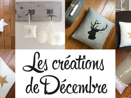 Les créations de Décembre