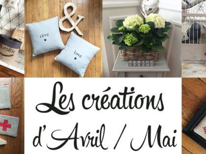 Les créations d'Avril & Mai…