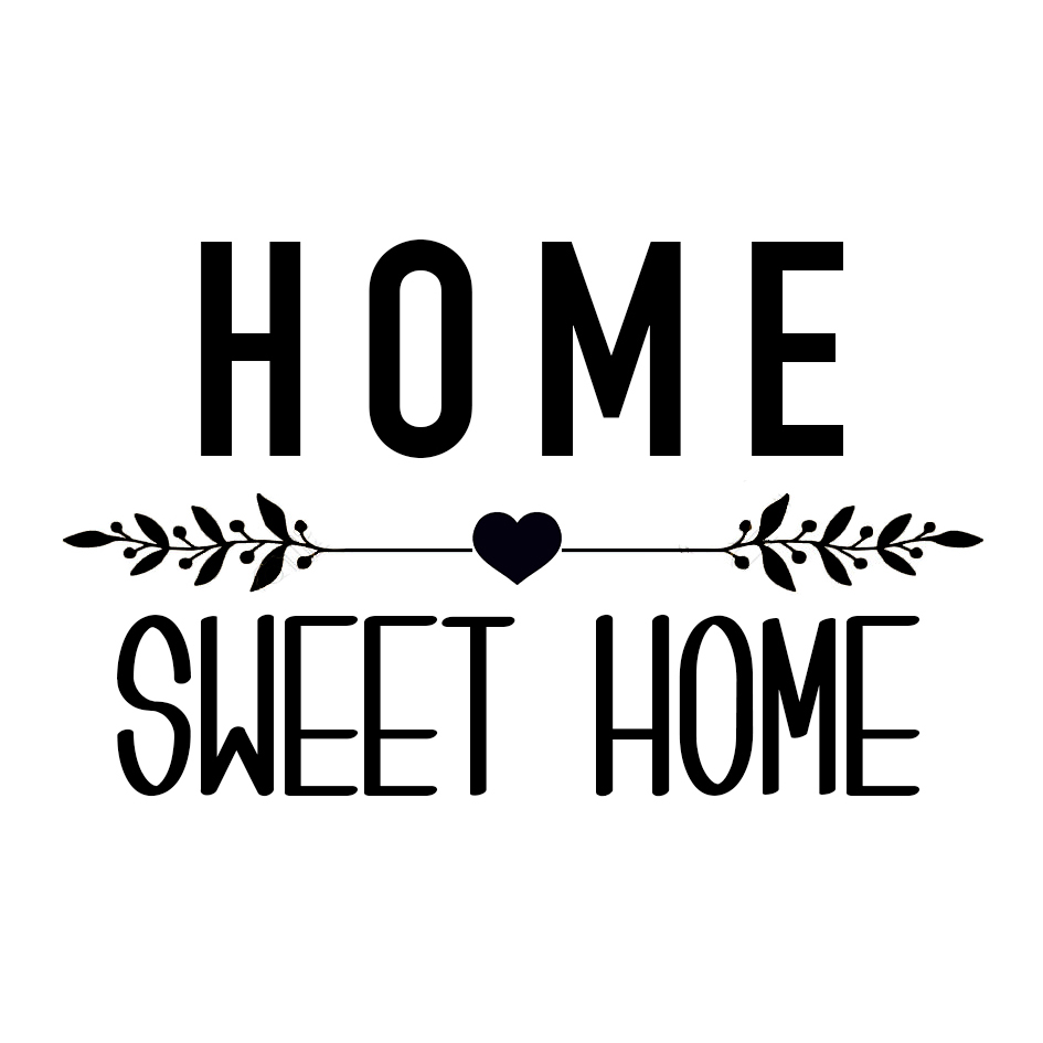 Sticker home sweet home affaires de famille - Home sweet home designs ...